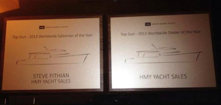 Grand Banks 2013 Worldwide Dealer of the Year Award