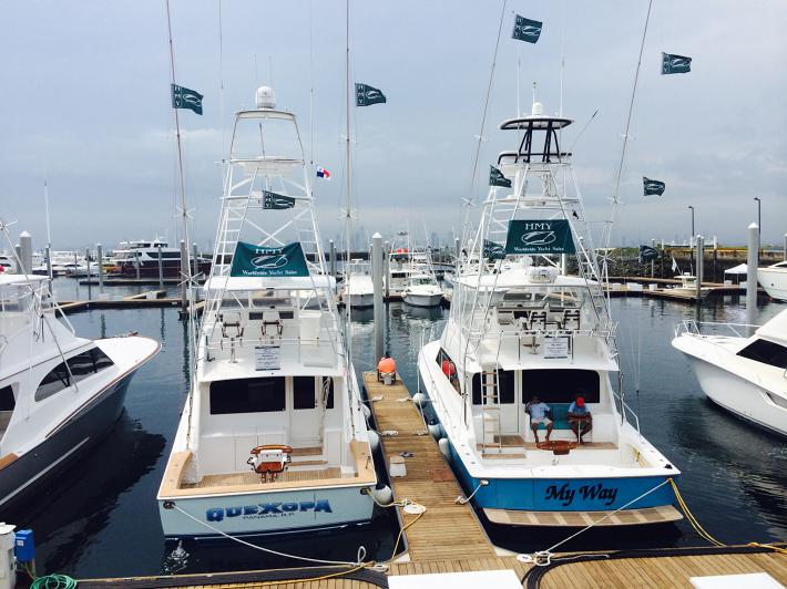 HMY Yachts at the First Panama International Boat Show