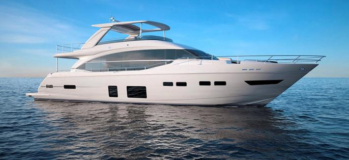 The New Princess Yachts Flybridge 75MY