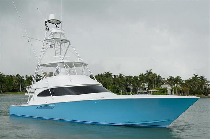 Featured Yacht For Sale : Crazy Blue – 2015 62′ Viking Yachts Convertible