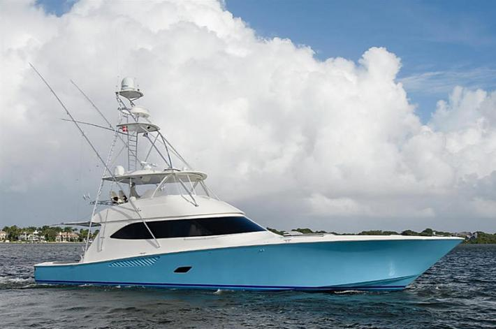 Video of T. Mack, a 2012 76′ Viking Yachts Convertible