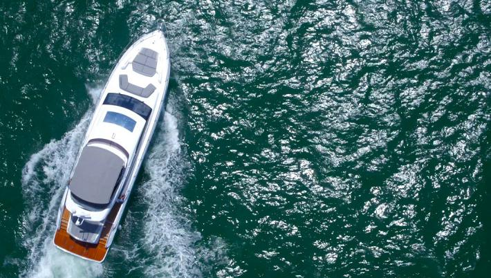 Drone Video Of 2017 Princess Yachts S65
