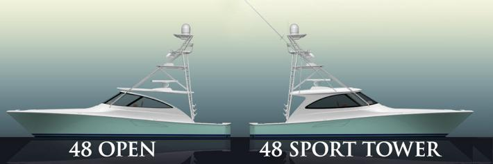 Viking Offers Options With the 48 Convertible, Open, and Sport Tower