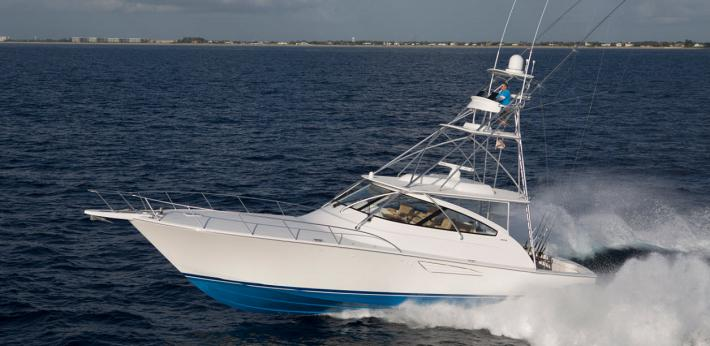 The Viking Yachts 52 Sport Tower and Open