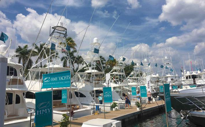 20 Viking Yachts On Display at The Palm Beach Boat Show