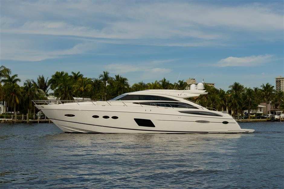 Princess Yachts V72 Profile Shot