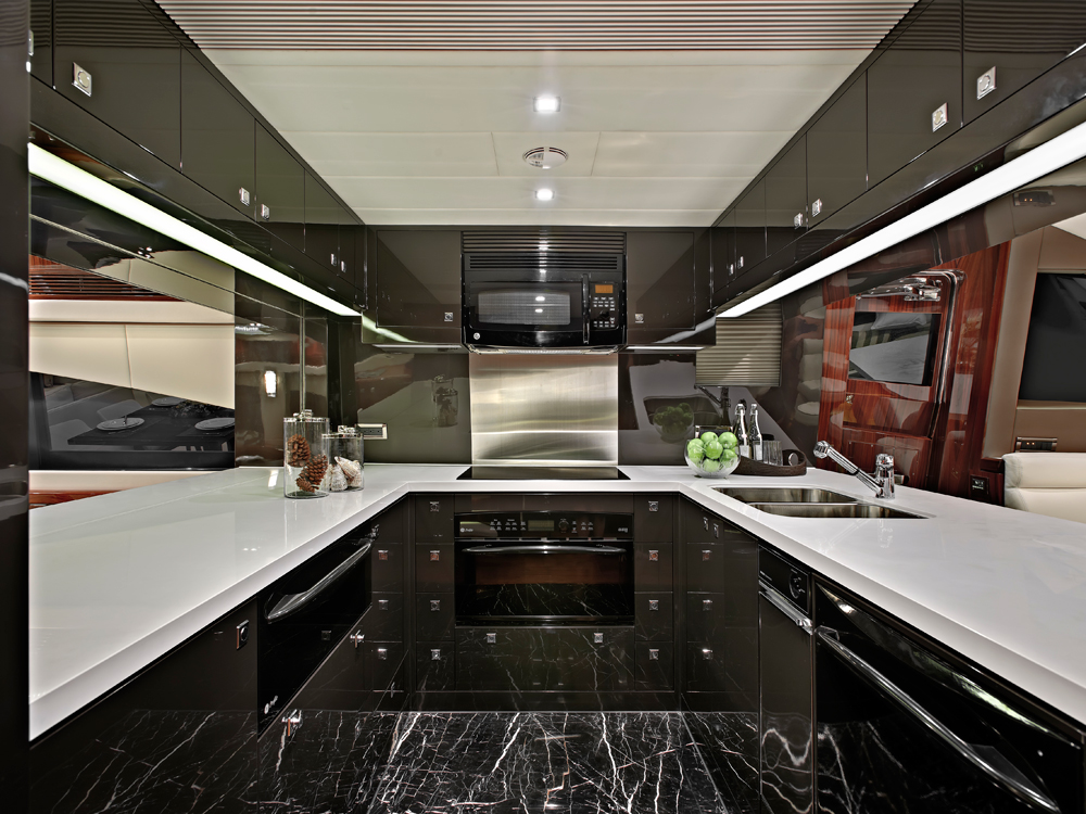 Motor yacht galley