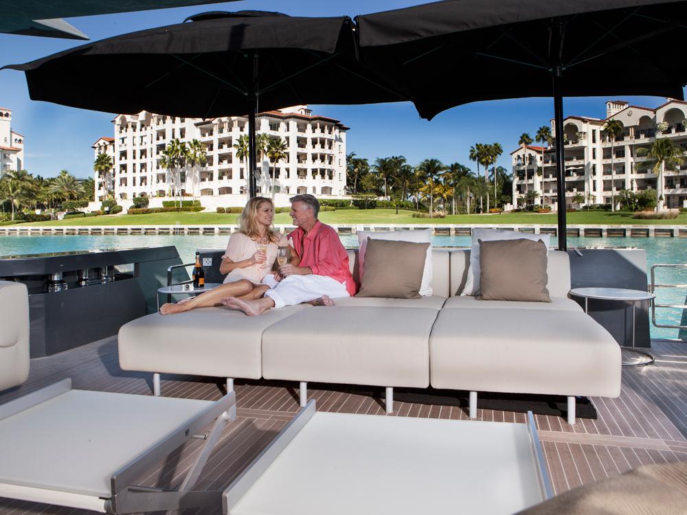 Arcadia motor yacht aft deck