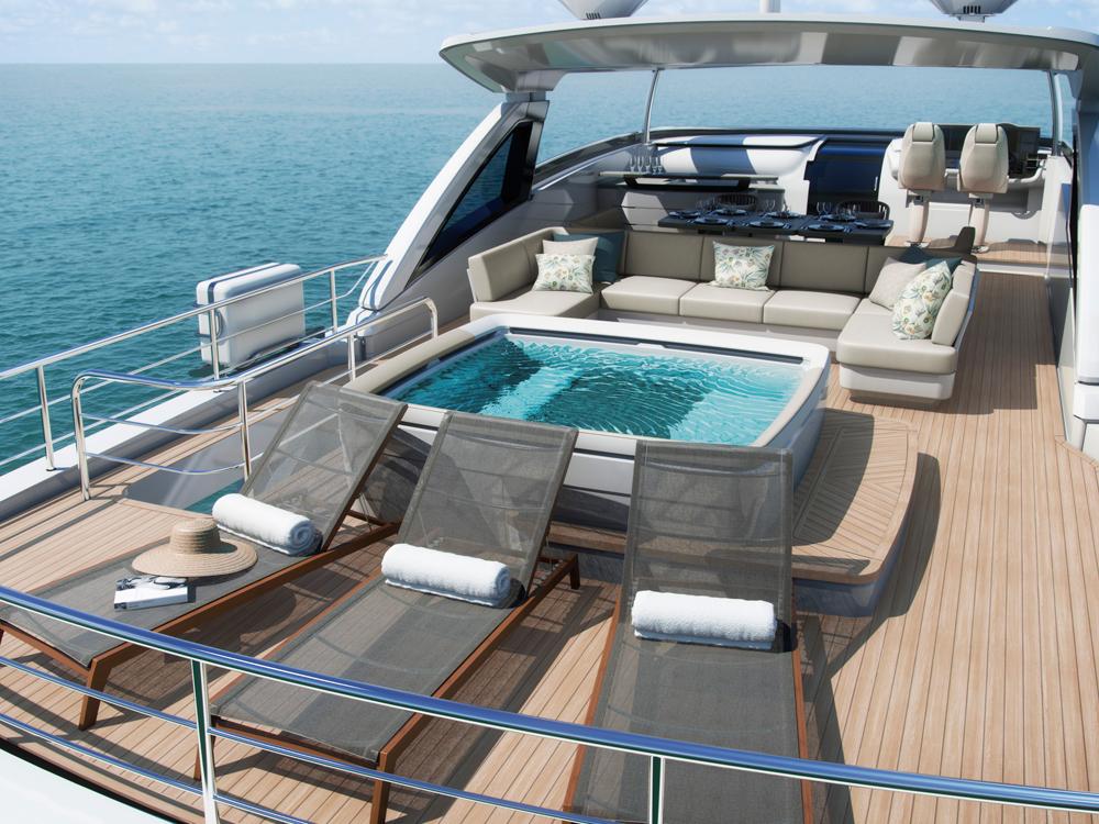 Flybridge motor yacht