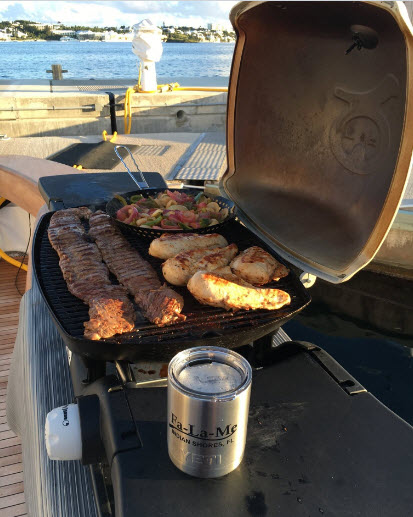 Cooking on a yacht