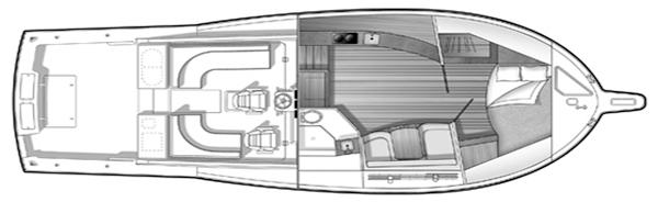 Albemarle 410 Express Floor Plan 2