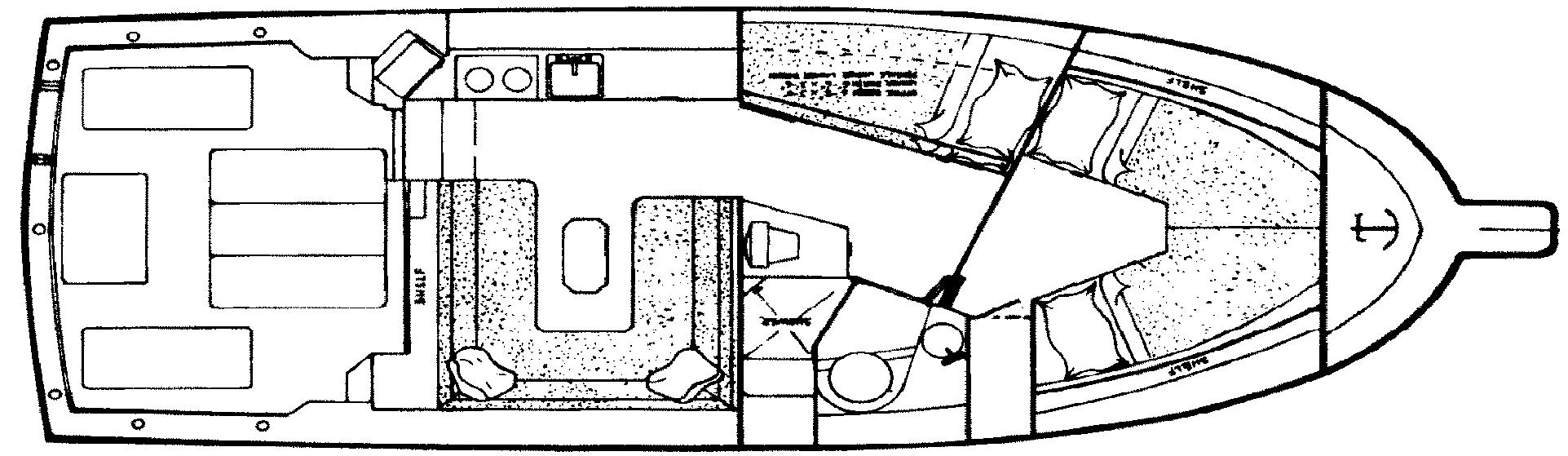 Albin 32+2 Command Bridge Floor Plan 2