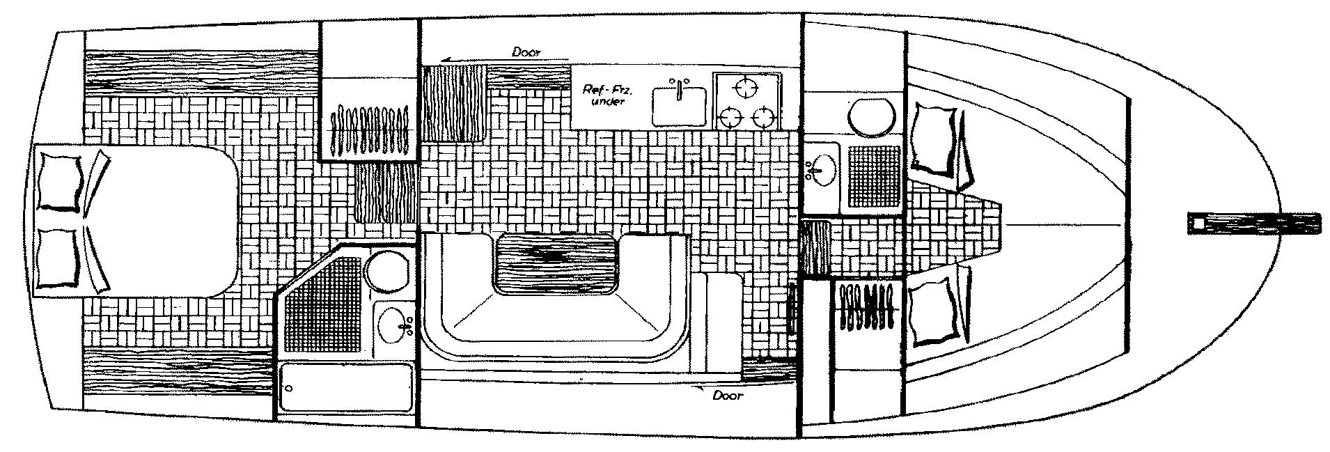 Albin 36 Trawler Floor Plan 2