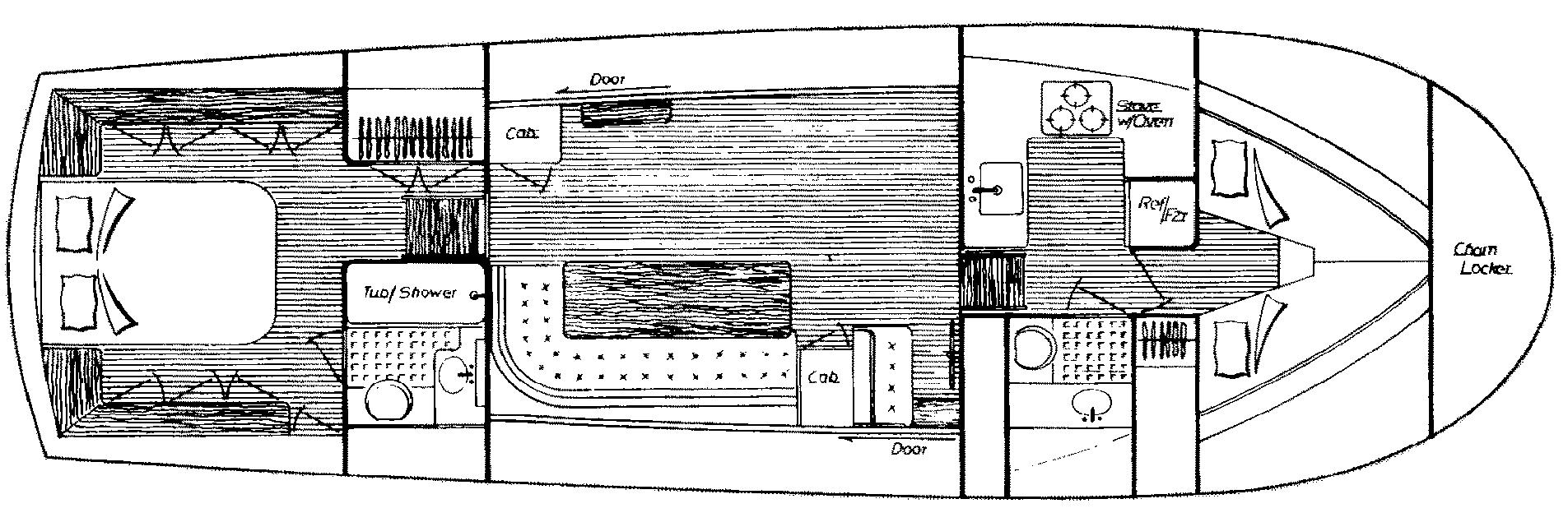 43 Trawler Floor Plan 2