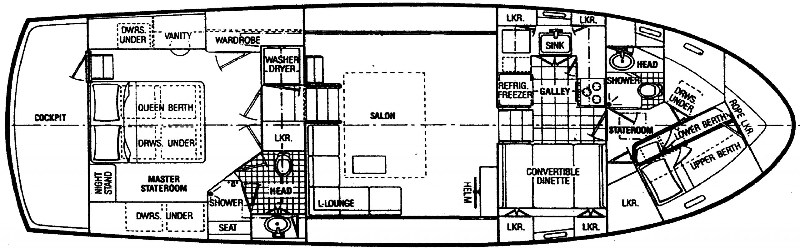 47 Motor Yacht Floor Plan 2
