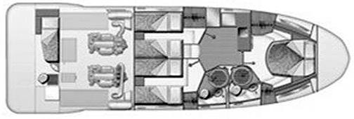 Azimut 47 Flybridge Floor Plan 2