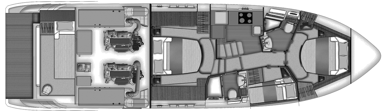 Azimut 50 Flybridge Floor Plan 2