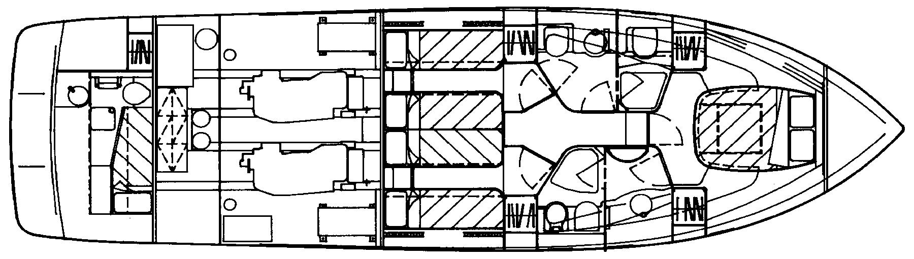 Azimut 52 Flybridge Floor Plan 2