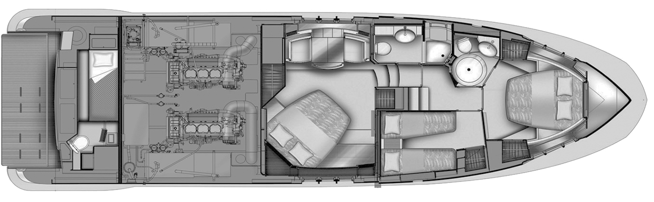 Azimut 53-54 Flybridge Floor Plan 2
