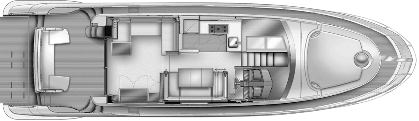 53-54 Flybridge Floor Plan 2