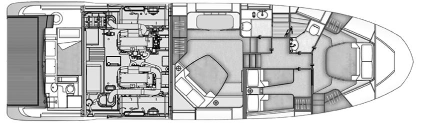 Azimut 55 Flybridge Floor Plan 2