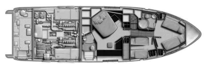 Azimut 58 Flybridge Floor Plan 2