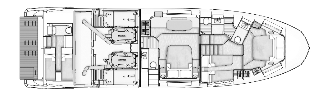 Azimut 60 Flybridge Floor Plan 2