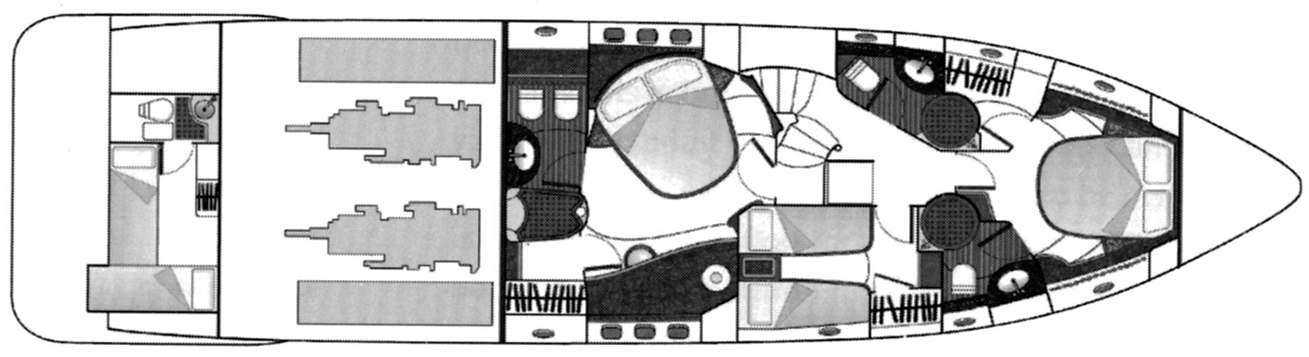 Azimut 62E Floor Plan 2