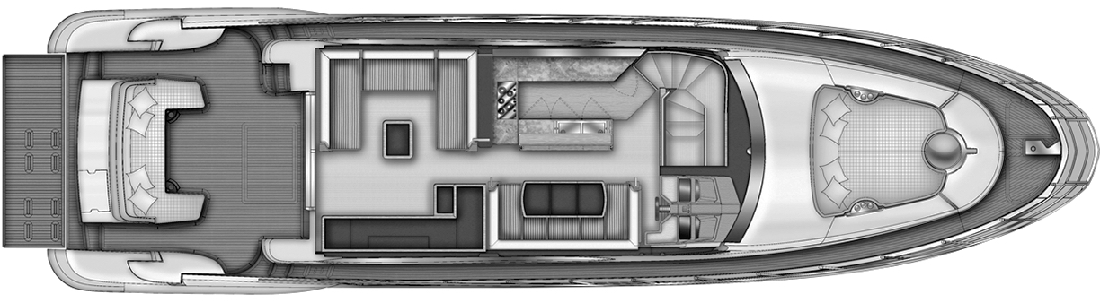 64 Flybridge Floor Plan 2