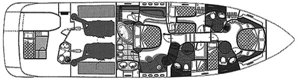 Azimut 68 Plus; 68 Evolution Floor Plan 2