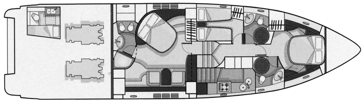 Azimut 68S Floor Plan 2