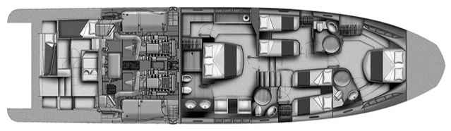 Azimut 70 Flybridge Floor Plan 2