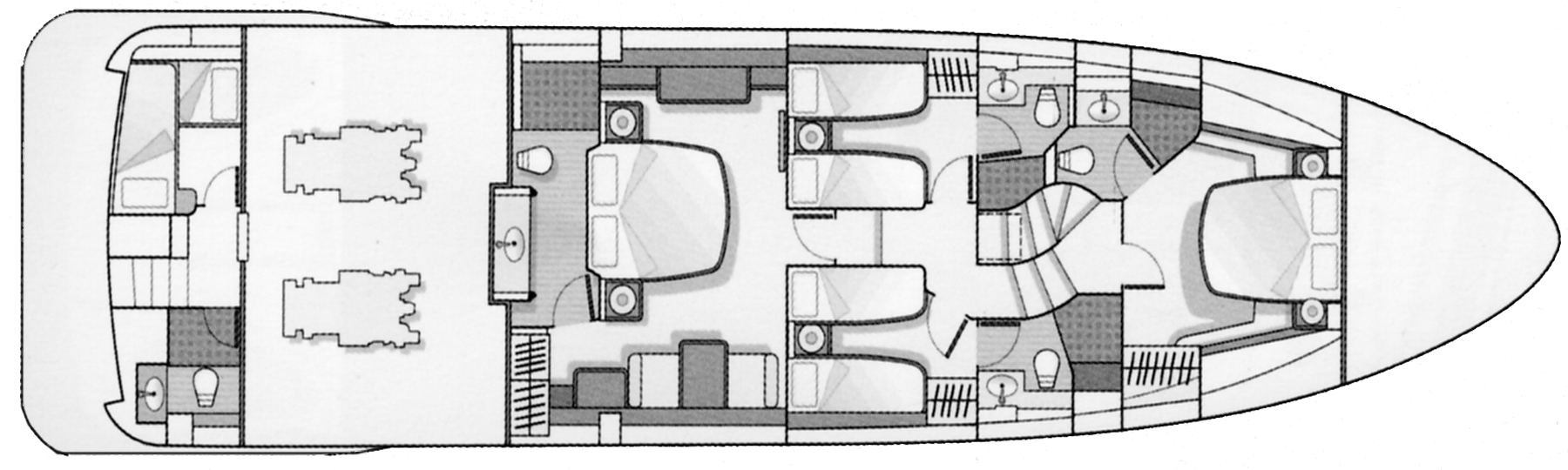 Azimut 75 Flybridge Floor Plan 2