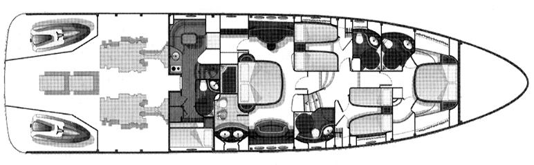 Azimut 80 Carat Floor Plan 2