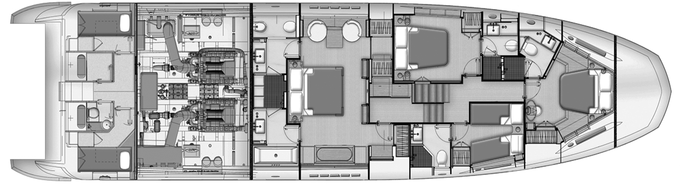 Azimut 80 Flybridge Floor Plan 2