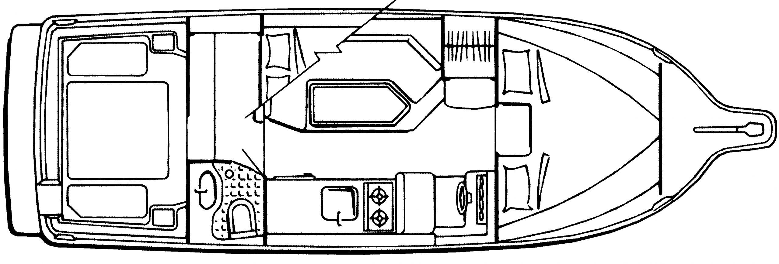 2858 Ciera CB; 288 Classic Cruiser Floor Plan 1