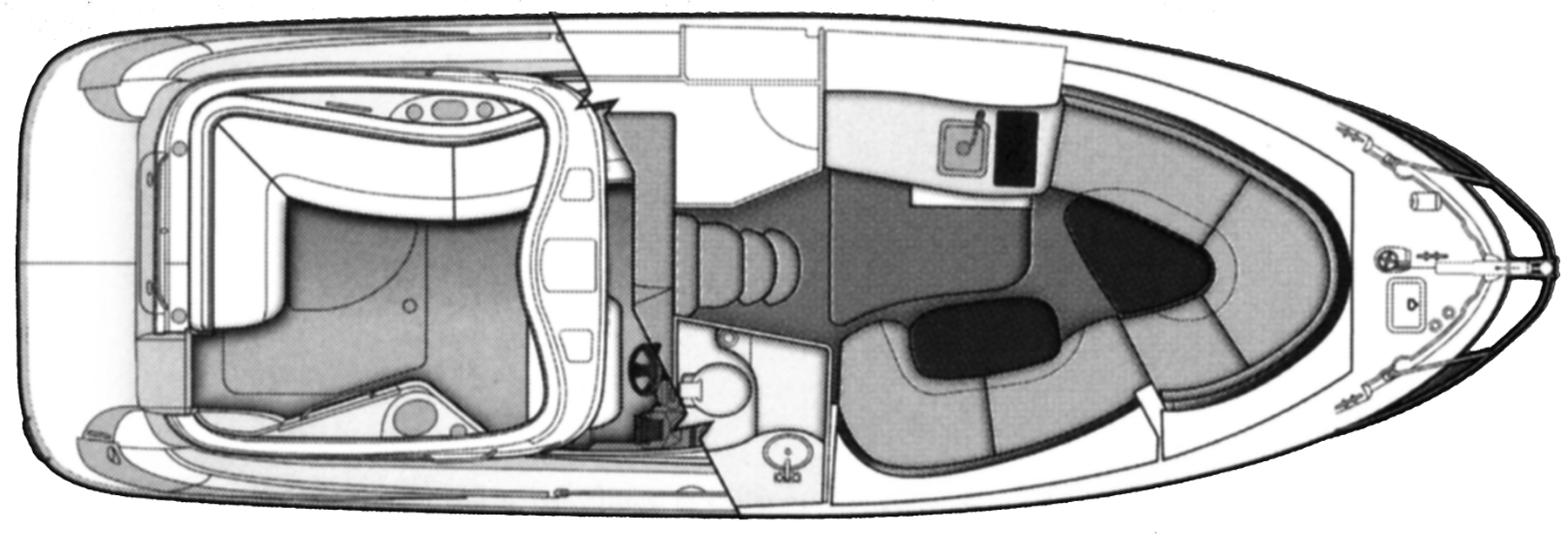 Bayliner 320-335 SB Cruiser Floor Plan 2