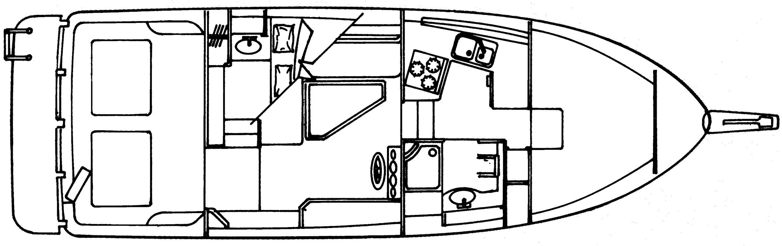 3388 Motor Yacht Floor Plan 1