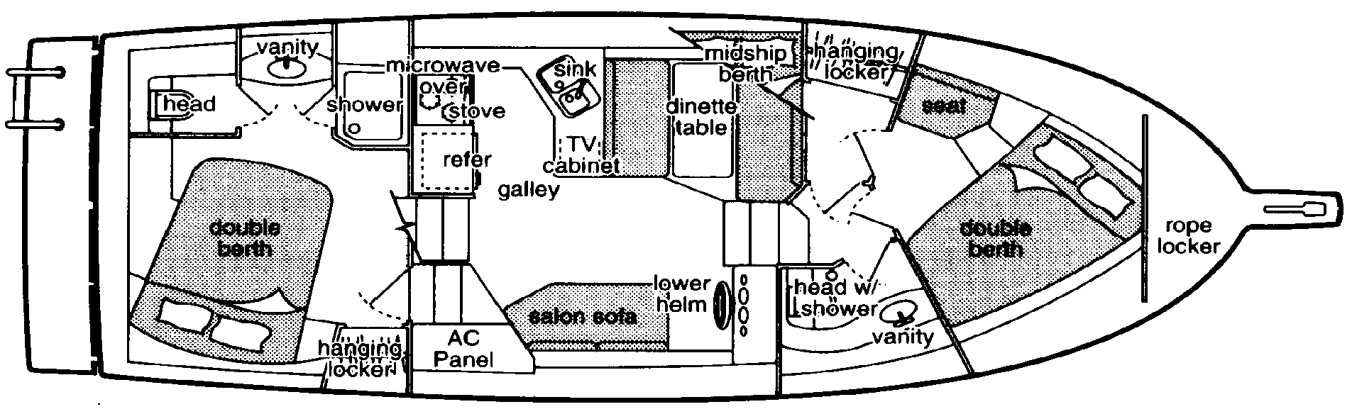 3587 Motor Yacht Floor Plan 1