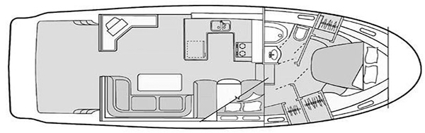 Bayliner 3788 Motor Yacht Floor Plan 2