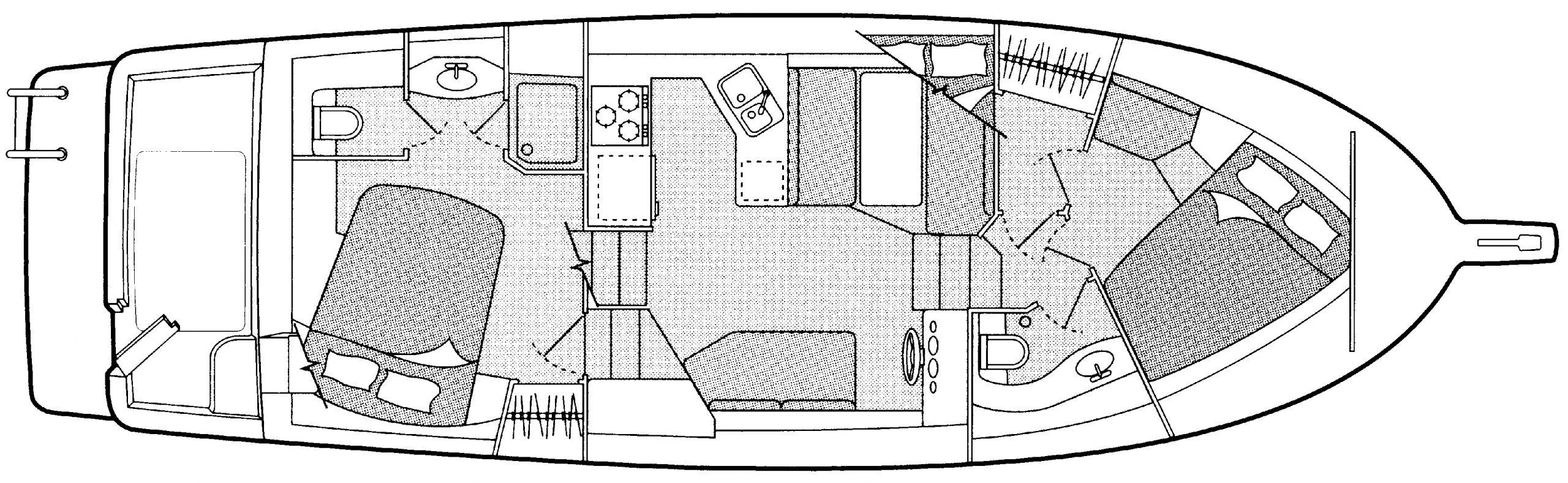 4087 Cockpit Motor Yacht Floor Plan 1