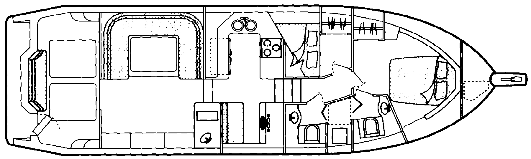 4388 Motor Yacht Floor Plan 1