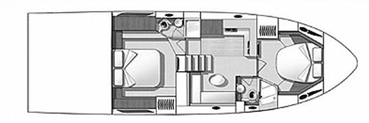 Beneteau Gran Turismo 49 Floor Plan 2