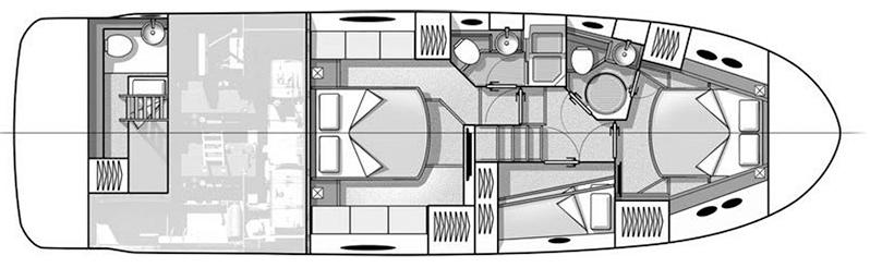 Beneteau Monte Carlo 5 Floor Plan 2