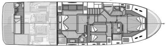 Beneteau Monte Carlo 6 Floor Plan 2