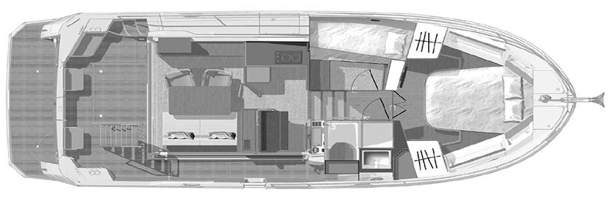 Beneteau Swift Trawler 35 Floor Plan 2