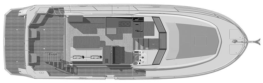 Swift Trawler 35 Floor Plan 2