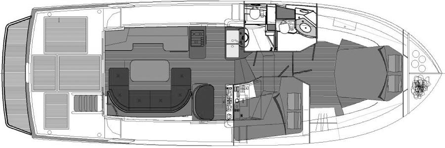 Beneteau Swift Trawler 42 Floor Plan 2