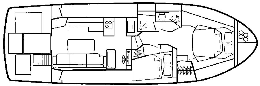 Swift Trawler 42 Floor Plan 2