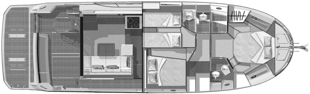 Beneteau Swift Trawler 47 Floor Plan 2